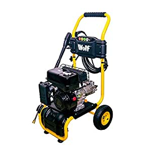 Wolf 220 BAR, 3200psi, 6.5HP Heavy Duty Petrol Driven Pressure Power Washer - Full Spares & Service Support - Kit Includes Gun, Lance, 5 Quick Fit Nozzles and 6m High Pressure Hose