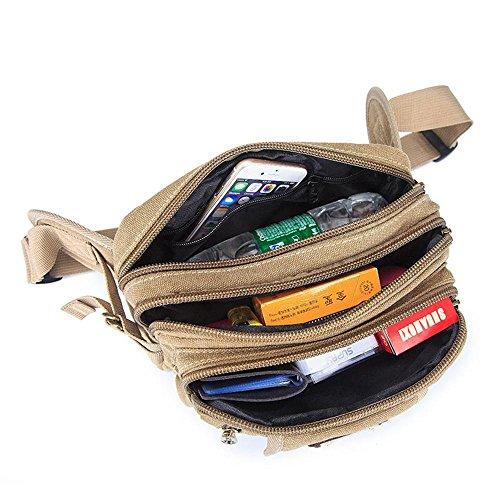 BUSL Wandern Hüfttaschen Kassen Business Casual Messenger Bag Außenreit Brust Leinwand Schulter Multifunktionstaschen Männer A