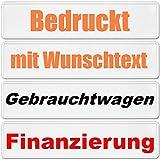 Kennzeichen mit Wunschtext ohne EU Zeichen Autoschild BLANKO bedruckt , 1 Stück