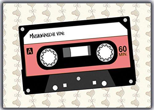 Musikwunschkarten Musikwunsch Musik wunsch Karten Vintage Hochzeit Geburtstag Party Sylvester wunschkarte Musikwunschkarte Hochzeitsspiel Hochzeitsspiele für Gäste Brautpaar Hochzeitsfeier DJ
