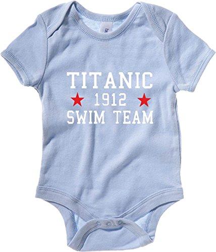 T-Shirtshock - Body neonato TR0138 Titanic Swim Team T-Shirt, Taglia 18-24mesi