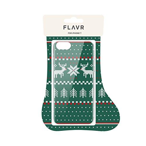 """FLAVR 26975 Weihnachts Schutzhülle """"Ugly Xmas Sweater"""" für Apple iPhone 7 grün grün"""