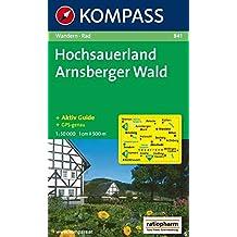 Hochsauerland - Arnsberger Wald  Wanderkarte mit Kurzführer und Radrouten.  GPS-genau. 1 128d9f9919