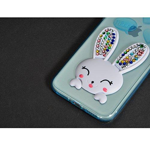 Custoida per iPhone 10 , Custoida per iPhone X ,Bonice Crystal Clear Glitter di Bling Custodia Ultra Slim Morbido TPU Gel Silicone Trasparente Protettivo Skin Protettiva Shell Bumper Case Cover Anti S Modello 02