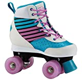 Firefly Kinder FF Roller Disco Rollschuhe, Turquoise/White/Pink, 37