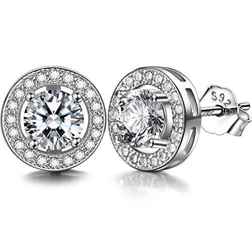 J.shine orecchini in argento 925 con 3a 6mm zirconi tagliati circolari buon regalo per donna