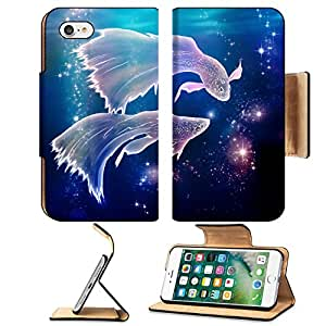 Liili Premium Apple iPhone 7 Flip Pu Leather Wallet Case IMAGE ID: 20395596 Fairy tale begins where life began Pisces is an astrological sign They are floating on the Milky Way in Spac