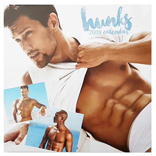 2018 sexy Hunks quadrato 16 mesi Wall calendario maschio uomini modelli Home Office Christmas Birthday Gift Design 2