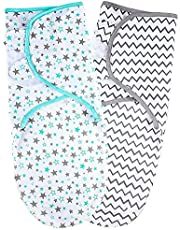 TuddyBuddy Baby Swaddle Wrap Blanket for Newborn & Infant | Swaddlers Sleep Sack with Adjustable Wings | Breathable Wrap Sack for Baby Boy & Baby Girl, White Multi Prints (Pack of 1, 3-6 Months)