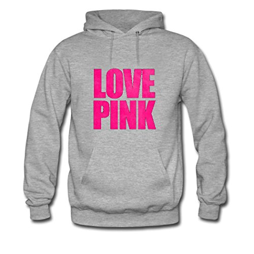 HGLee Printed Personalized Custom Love Pink Womens Sweatshirts Hooded Hoodies Gray--3