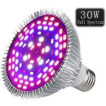 Lampara Bombilla LED Cultivo para Plantas de Interior, Lámpara de Cultivo E27 50w / 80w