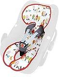 Priebes Sitzauflage Lola für Babyschalen Gruppe 0 mit Aussparung und Easy-out Gurtsystem | kühlt durch Luftzirkulation | verringert Schwitzen Ihres Kindes | ideale Alternative zum Sommerbezug | atmungsaktiv & waschbar, Design:rotkäpchen