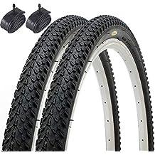 Fincci Par híbrida neumáticos de Bicicleta de montaña Cubiertas 26 x 2,125 57-559 y