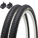 Fincci Paar MTB Mountain Hybrid Bike Fahrrad Reifen 26 x 2.125 57-559 und Autoventil Schläuche