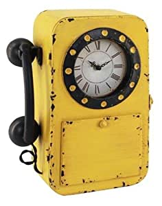 Orologio da parete con portachiavi telefono vintage - Telefoni a parete ...