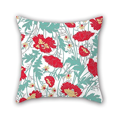 beautifulseason Christmas Pillowcase of Flower for Adults Office Lounge Gril Friend Home Car Seat 16 X 16 Inches/40 by 40 cm(2 Sides) -