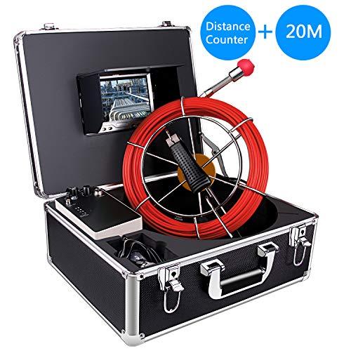 Aukfa Drahtlose Inspektionskamera, Rohr Wegzähler Kanalisationsablaufrohr Endoskop wasserdichte Kamera mit 7-Zoll-LCD-Monitor für Installateure, Inspektoren, Ingenieure