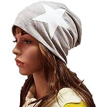 TININNA Unisex Sombrero,Moda Mujeres universal Cálido Invierno de punto de esquí Beanie Hat Slouchy Gorra Sombrero-Gris claro