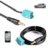 Shine@ Adapter Cable - 3.5mm Aux Input Adapter Cable For Renault Clio Megane Laguna Scenic MP3 iPhone