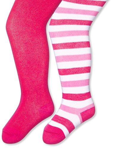 Twins Baby - Mädchen Strumpfhose im 2er Pack, Gr. 56, Rosa (pink 230)