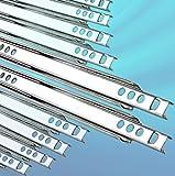 10 Schubladenschienen Teilauszug Rollenauszug Teleskopschiene Kugelführung H: 17 / L: 310 mm