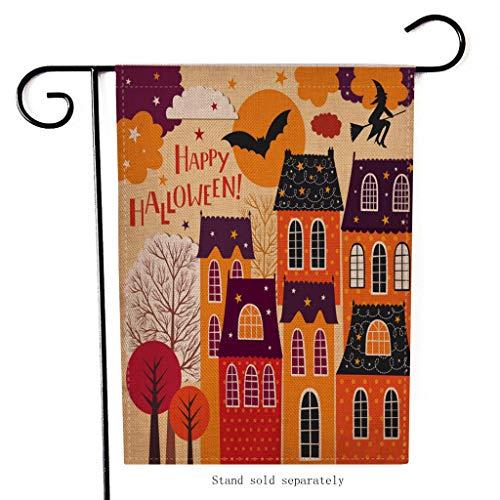 Mitlfuny Halloween coustems Kürbis Hexe Cosplay Gast Ghost Schicke Party Halloween deko,Saisonale Garten Fahnen Doppelseitige Outdoor-Feiertage Dekorative Rasen Yard (Deck The Halls Kostüm)