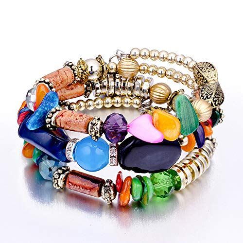 Imagen de mayyou perlas yoga natural piedra elástica abalorios pulseras hechas a mano macrame