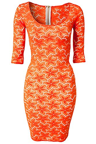 Dissa® Deman Orange SY21466 minikleid Orange