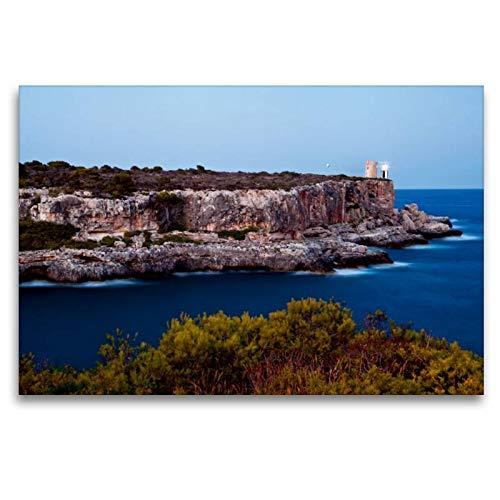 Premium Textil-Leinwand 120 x 80 cm Quer-Format Leuchtturm von Calla Figuera | Wandbild, HD-Bild auf Keilrahmen, Fertigbild auf hochwertigem Vlies, Leinwanddruck von Thorsten Jung (TJPhotography)