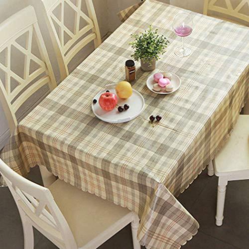 Tischdecke Hause Wasserdicht Und Ölbeständig Pvc-Tischdecke Einweg Anti-Hot Tischdecke Kaffeetischdecke Bambus Gelb Kleinen Kreis 120Cm
