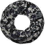 styleBREAKER Loop Schal mit Camouflage Muster im Destroyed Vintage used Look, Schlauchschal, Tuch, Unisex 01016134, Farbe:Schwarz-Grau