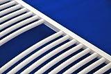 Heizkörper Badheizkörper Handtuchwärmer rein elektrisch mit digitalem Thermostat ELEKTRO gebogen alle Größen - 3
