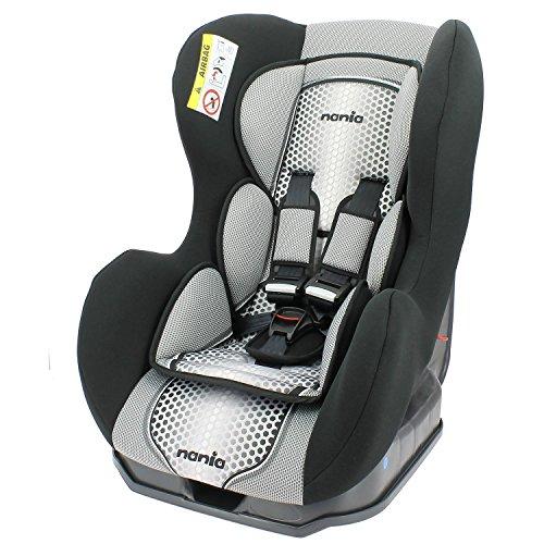 Autositz von 0bis 18kg, mit seitlichen Protektoren–Herstellung 100% Französisch–3Sterne Test TCS–4Farben–Kopfstütze und Sitzfläche gepolstert