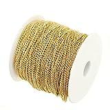 honeysuck Creative bisutería accesorios cable de oro de hierro cadena -5M