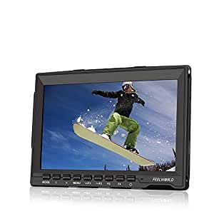 Feelworld FW74K 7 Inch HD 1280x800 IPS Screen Camera Field Monitor for Panasonic GH4 Sony A7S FS7 and other 4K Cameras with Both HDMI Interface and Output Format of 4K Resolution UHD 3840*2160P