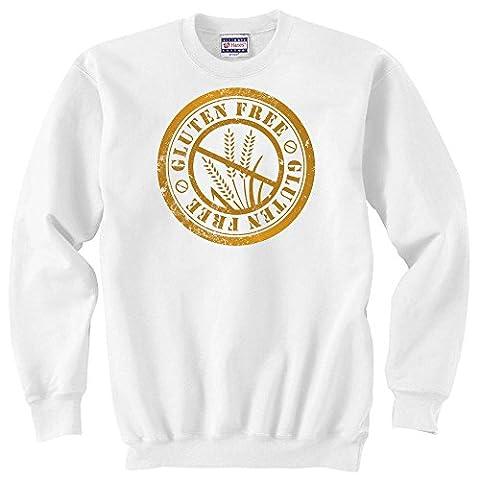 Gluten free stamp artwork graphic Unisex Sweater XX-Large