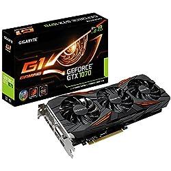 Gigabyte GV-N1070G1 GAMING-8GD V2 Carte Graphique Nvidia GeForce GTX 1070 1594 MHz