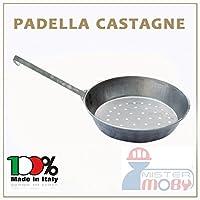 Padella in metallo per cucinare le castagne sulla braceManico in metalloDiametro 30 centimetriProdotto artigianale realizzato in Italia