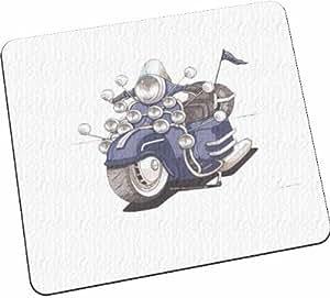Personnalisé Koolart Lambretta Vespa Bike Sous-verre en verre