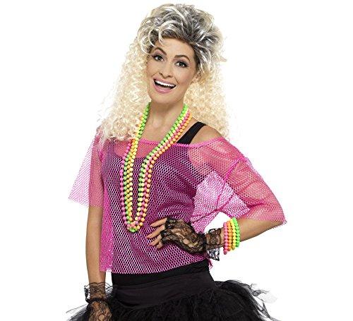 Dress Kostüm Sport Und Fancy Accessoires - Smiffys Damen Fischernetz Oberteil, Größe: 36-42, Neon Pink, 45192