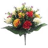 """Bellissimi fiori artificiali con mammole Bush con generosa foglie Bush Lunghezza è circa 41centimetri (16"""") un display esterni adatto per in Bush e disponibile anche in un' ampia gamma di altri colori"""