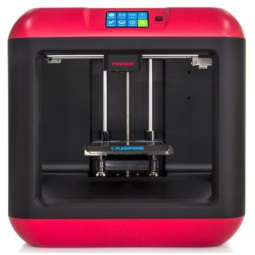 FlashForge Finder Impresora 3D, Color Negro y Rojo