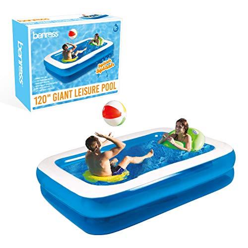 GardenKraft Garden Extra Riesiges aufblasbares Schwimmbecken, rechteckig, 3m (Extra Pool Aufblasbare Große)