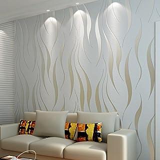 Hochwertige moderne einfache Vlies-Tapete, beflockt, 3D stereoskopische geprägte Wandtapete, Heimdekoration, Wohnzimmertapete