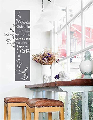 *NEU* Wandaufkleber Wandtattoo Wandsticker für die Küche/Esszimmer'KAFFEE BANNER' (Größen.- und Farbauswahl)