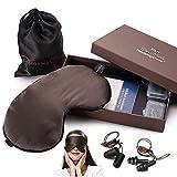 Antifaz para dormir, incluye 2 pares de tapones para los oídos, para mujer y hombre.
