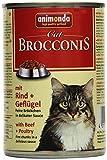 Animonda Brocconis Katzenfutter mit Rind + Geflügel, 12er Pack (12 x 400 g)