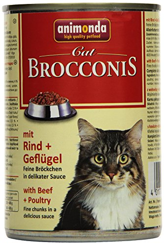 katzeninfo24.de Animonda Brocconis Katzenfutter mit Rind + Geflügel, 12er Pack (12 x 400 g)