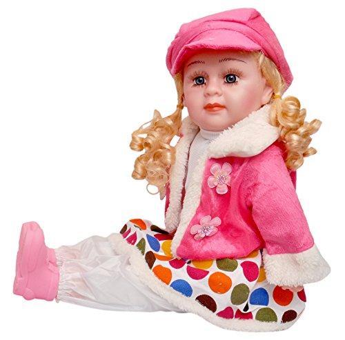 Toyshine 18 Inches Rhymes Singing Boy Doll, Touch Sensors, Polka Dots