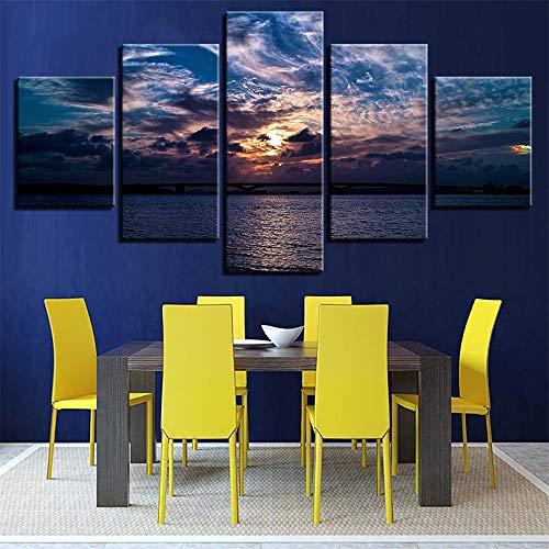 Malerei,HD-Inkjet-Multi-Seascape-Wellenkunst, die Hauptschlafzimmermode-Nachttischhintergrund Malt, der 10 Malereikern 20x35cmx2 20x45cmx2 20x55cmx1 Malt ()